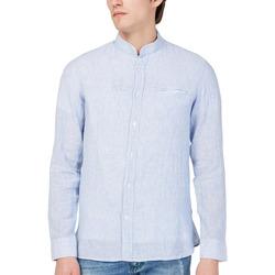 Textil Homem Camisas mangas comprida Gas 151228 Azul