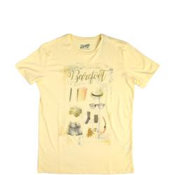 Textil Homem T-Shirt mangas curtas Key Up 2G84S 0001 Amarelo