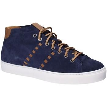 Sapatos Homem Sapatilhas de cano-alto Exton 476 Azul
