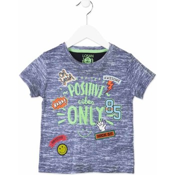 Textil Criança T-Shirt mangas curtas Losan 815-1017AC Azul