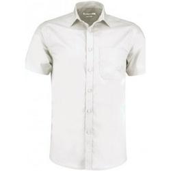 Textil Homem Camisas mangas curtas Kustom Kit KK141 Branco