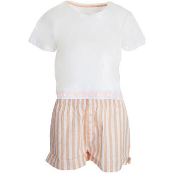 Textil Mulher Pijamas / Camisas de dormir Brave Soul  Branco/rosa