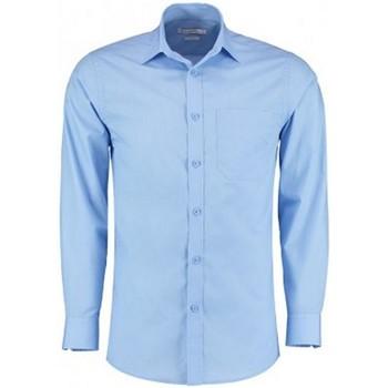 Textil Homem Camisas mangas comprida Kustom Kit K142 Azul claro