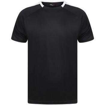 Textil T-Shirt mangas curtas Finden & Hales LV290 Marinha/ Branco