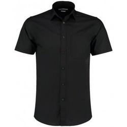 Textil Homem Camisas mangas curtas Kustom Kit KK141 Preto