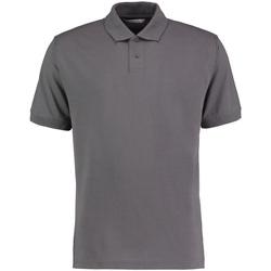 Textil Homem Polos mangas curta Kustom Kit KK422 Cinza Carvão Vegetal