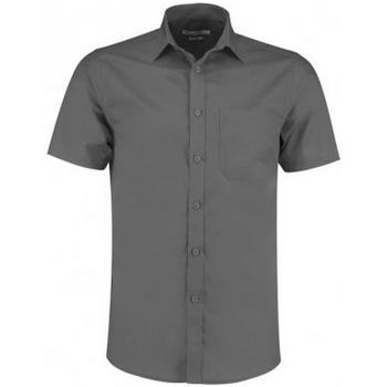 Textil Homem Camisas mangas curtas Kustom Kit KK141 Graphite