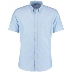 Textil Homem Camisas mangas curtas Kustom Kit KK183 Azul claro