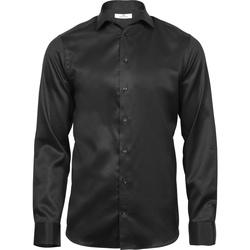 Textil Homem Camisas mangas comprida Tee Jays T4021 Preto