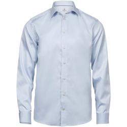 Textil Homem Camisas mangas comprida Tee Jays T4020 Azul claro