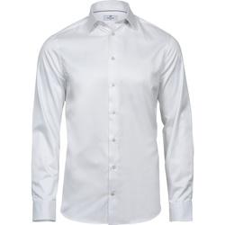 Textil Homem Camisas mangas comprida Tee Jays T4021 Branco