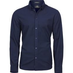 Textil Homem Camisas mangas comprida Tee Jays TJ4010 Marinha