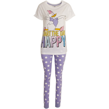 Textil Mulher Pijamas / Camisas de dormir Disney  Branco/Púrpura