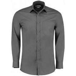 Textil Homem Camisas mangas comprida Kustom Kit K142 Graphite