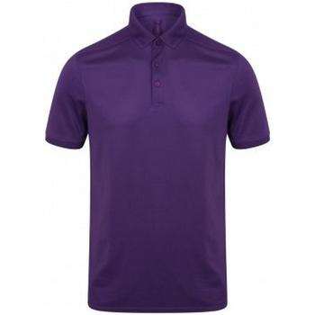Textil Homem Polos mangas curta Henbury HB460 Púrpura Brilhante