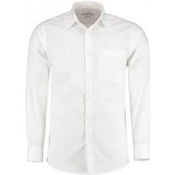 Textil Homem Camisas mangas comprida Kustom Kit K142 Branco