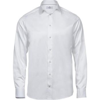 Textil Homem Camisas mangas comprida Tee Jays T4020 Branco