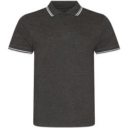 Textil Homem Polos mangas curta Awdis JP003 Carvão/branco