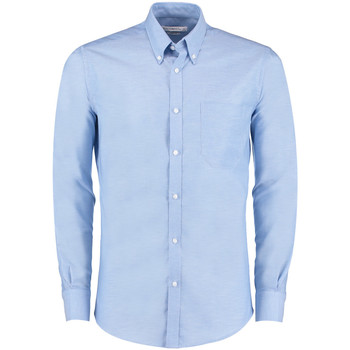 Textil Homem Camisas mangas comprida Kustom Kit KK182 Azul claro