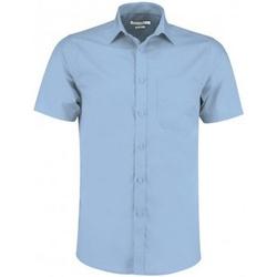 Textil Homem Camisas mangas curtas Kustom Kit KK141 Azul claro
