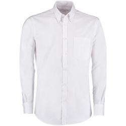 Textil Homem Camisas mangas comprida Kustom Kit KK182 Branco