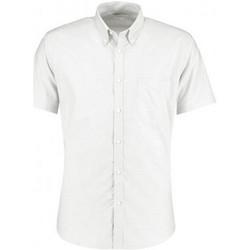 Textil Homem Camisas mangas curtas Kustom Kit KK183 Branco