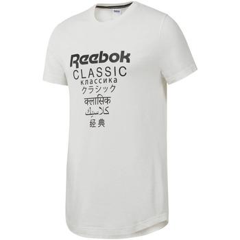 Textil Homem T-Shirt mangas curtas Reebok Sport DJ1893 Branco