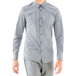 Textil Homem Camisas mangas comprida Antony Morato MMSL00501 FA430345 Azul