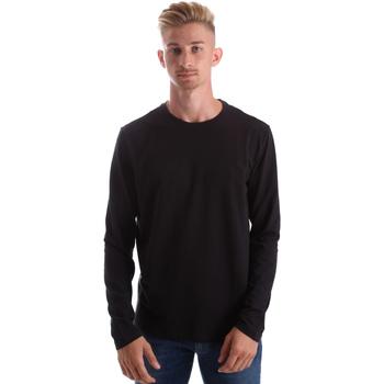 Textil Homem T-shirt mangas compridas Gas 300187 Preto