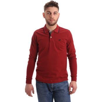 Textil Homem Polos mangas compridas Key Up 2RG71 0001 Vermelho