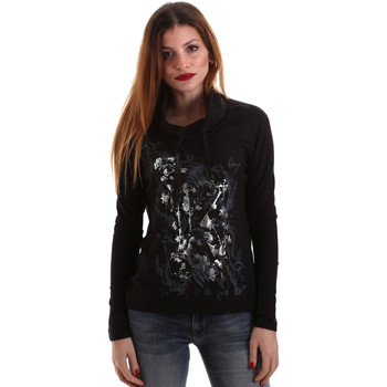 Textil Mulher T-shirt mangas compridas Key Up 5VG84 0001 Preto