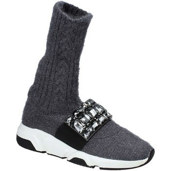 Sapatos Mulher Sapatilhas de cano-alto Studio Italia BLANCHE 08 Cinzento