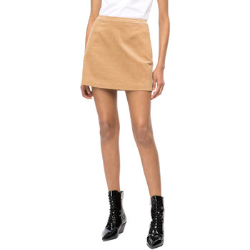 Textil Mulher Saias Calvin Klein Jeans J20J208503 Bege