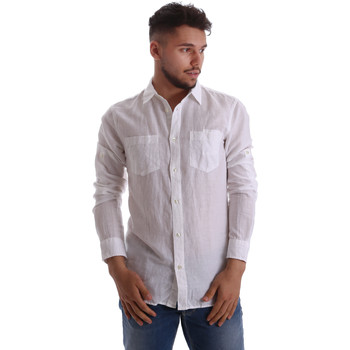 Textil Homem Camisas mangas comprida Gas 151150 Branco