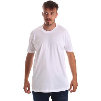Textil Homem T-Shirt mangas curtas Key Up 2M915 0001 Branco