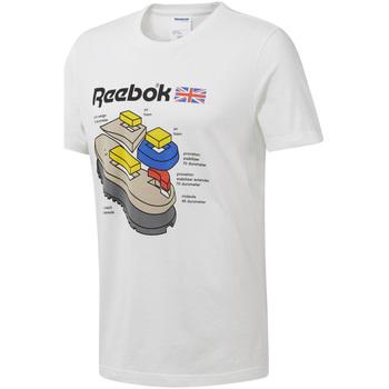 Textil Homem T-Shirt mangas curtas Reebok Sport DT8122 Branco
