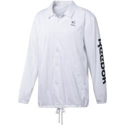 Textil Homem Casacos fato de treino Reebok Sport DT8203 Branco