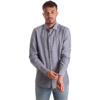 Textil Homem Camisas mangas comprida Antony Morato MMSL00520 FA420069 Azul