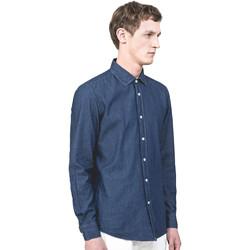 Textil Homem Camisas mangas comprida Antony Morato MMSL00520 FA440019 Azul