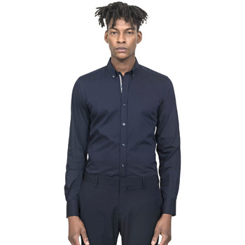 Textil Homem Camisas mangas comprida Antony Morato MMSL00523 FA450001 Azul