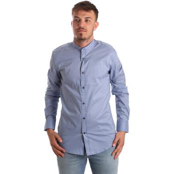 Textil Homem Camisas mangas comprida Antony Morato MMSL00526 FA430086 Azul