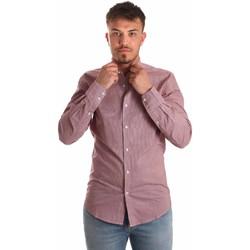 Textil Homem Camisas mangas comprida Antony Morato MMSL00526 FA430360 Vermelho
