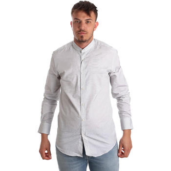 Textil Homem Camisas mangas comprida Antony Morato MMSL00526 FA440024 Branco