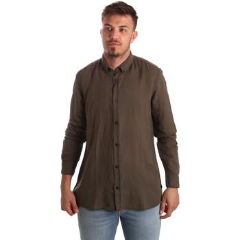 Textil Homem Camisas mangas comprida Antony Morato MMSL00530 FA400051 Castanho