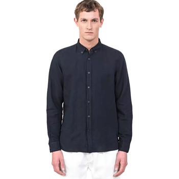 Textil Homem Camisas mangas comprida Antony Morato MMSL00530 FA400051 Azul