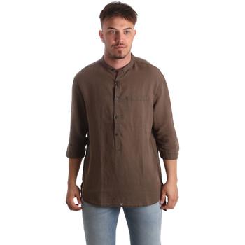 Textil Homem Camisas mangas comprida Antony Morato MMSL00531 FA400051 Castanho