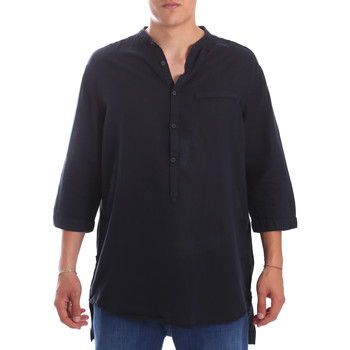 Textil Homem Camisas mangas comprida Antony Morato MMSL00531 FA400051 Azul