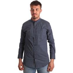 Textil Homem Camisas mangas comprida Antony Morato MMSL00532 FA430370 Azul