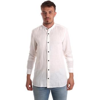 Textil Homem Camisas mangas comprida Antony Morato MMSL00547 FA400051 Branco