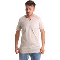 Textil Homem T-Shirt mangas curtas Antony Morato MMKS01487 FA100139 Bege